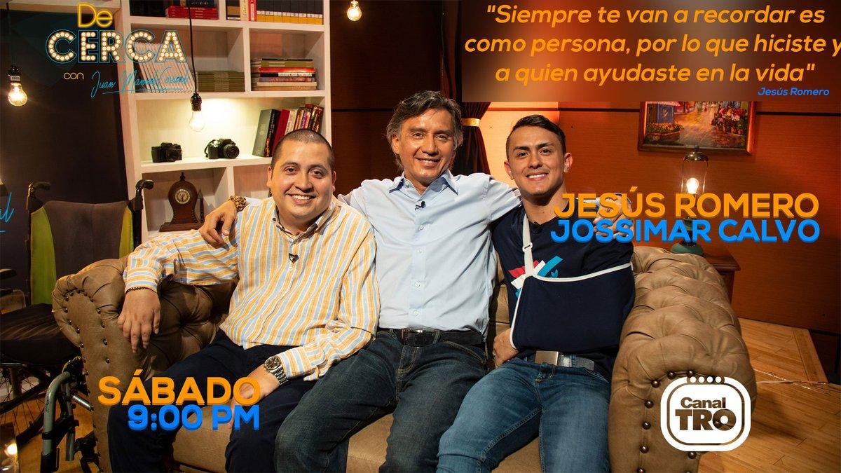 Este sábado estaremos con Jossimar Calvo y Jesús Romero, una historia de amistad, resiliencia y amor por el deporte.  #DeCerca 6 de Julio - 9pm  Canal TRO