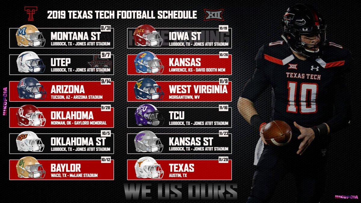 Nikopoia On Twitter 2019 Texas Tech Football Schedule For Desktop And Iphone Texastech Nikopoia