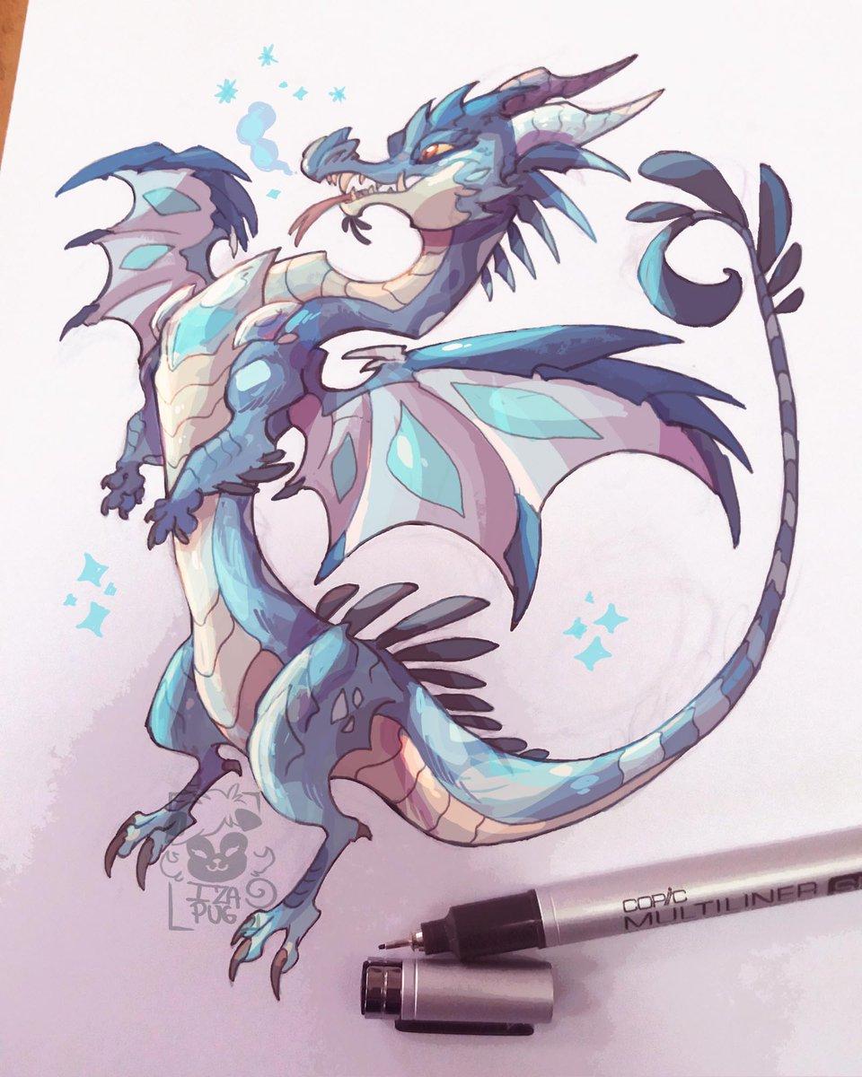 crystal ice dragon #sketch #sketchbook #dragon #dragons