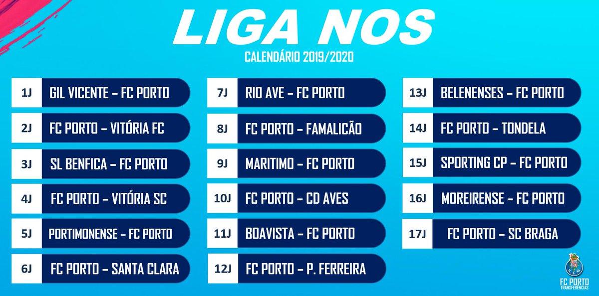 Calendario Liga Nos 2020.Portista On Twitter Porto League Schedule 2019 20 Fcporto