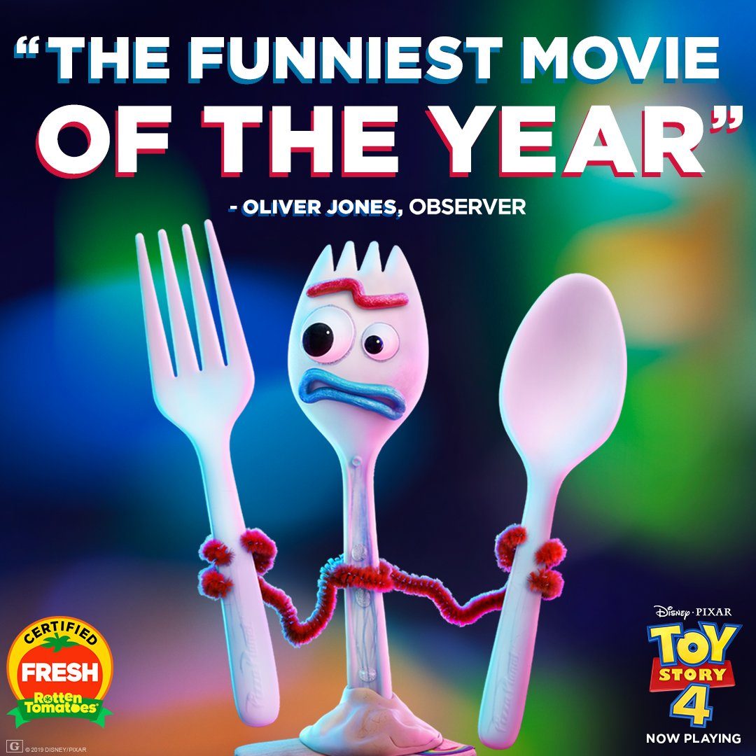 #ToyStory4 is 'the funniest movie of the year.' See it in theaters this weekend!