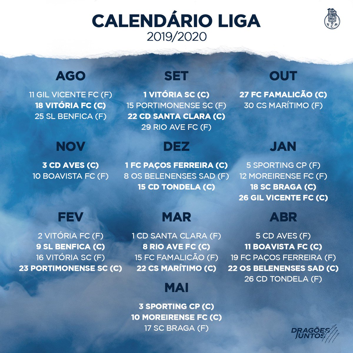 Calendario F.Fc Porto On Twitter Savethedate Calendario Da Liga