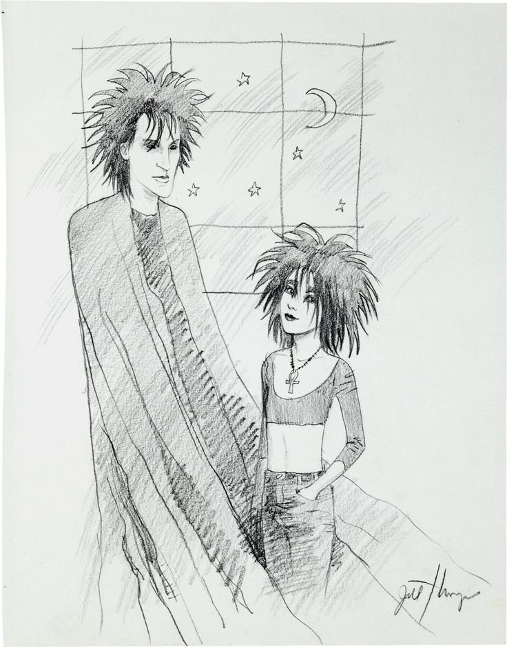 Sandman and Death convention sketch by Jill Thompson