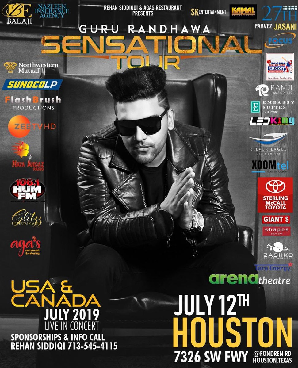 Hi , Houston, see you all on 12th July 🙏 Get your tickets now 🔥 Link in bio 🙏😊