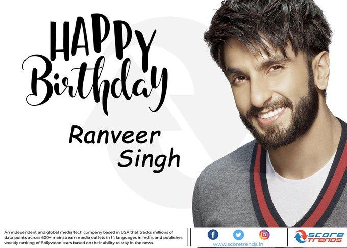 Score Trends wishes Ranveer Singh a Happy Birthday!!