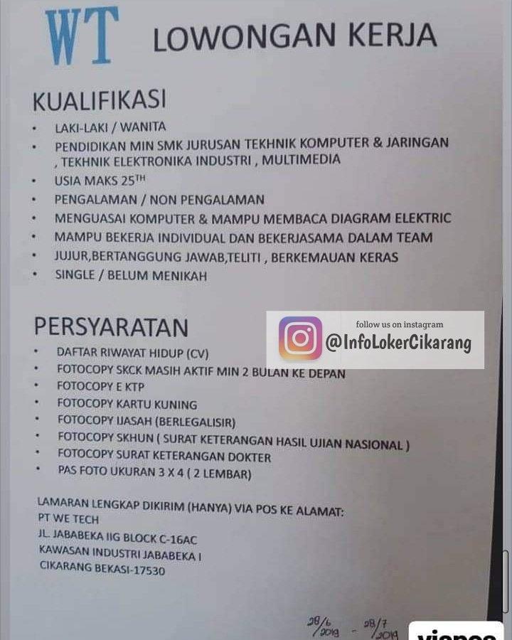 Info Loker Cikarang Lokercikarang2 Twitter