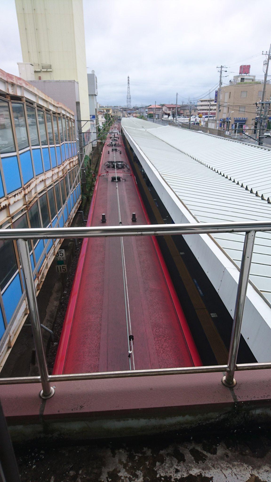 総武線・成田線の都賀駅で人身事故が起きた現場の画像