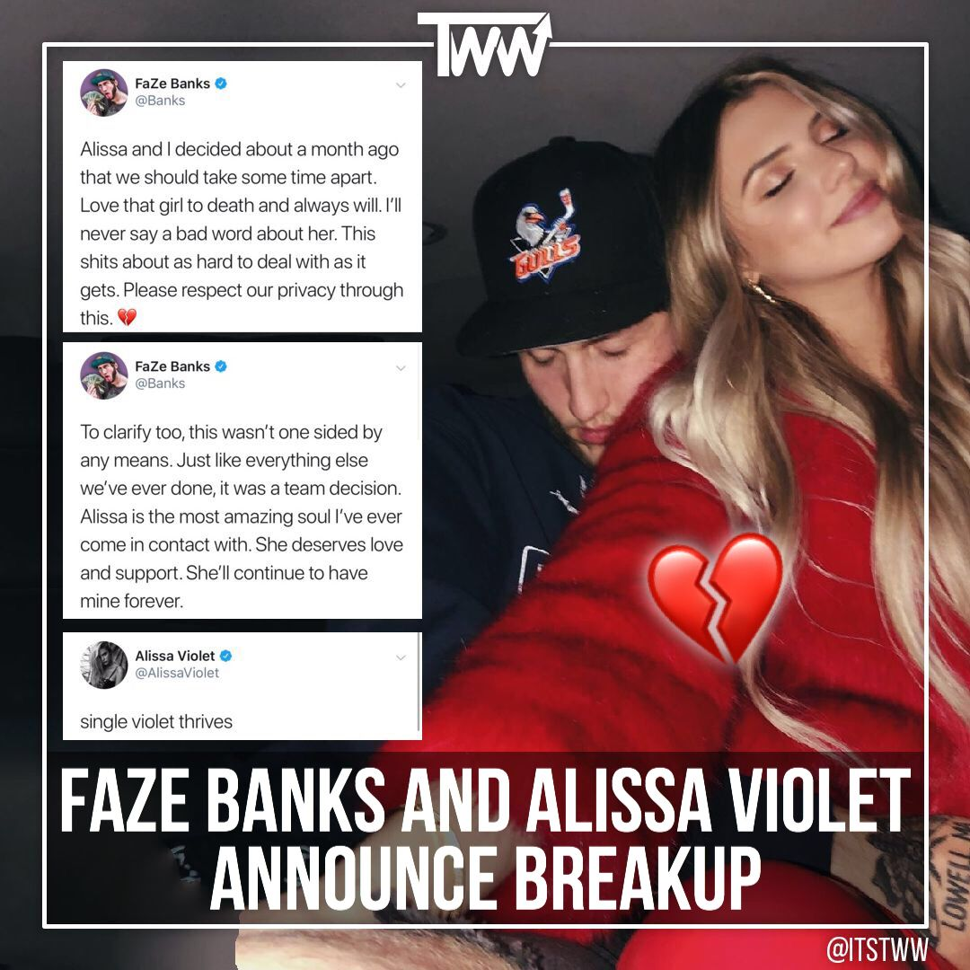 Fazebanks And Alissaviolet Break Up After 2 Years Of Being Together