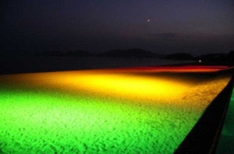 さて今から虹ヶ浜だよ。  準備して18時00分くらいから飛ばして遊んでいるよー!  ライトアップ楽しみだぁ!  わーわーわー‼️ https://t.co/wjYOZUqaoS