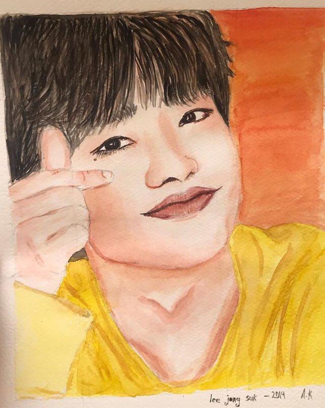 2019 07 06 #LeeJongSuk #FANART] 🤗❤️🐥😊 Credit 👉 https://www