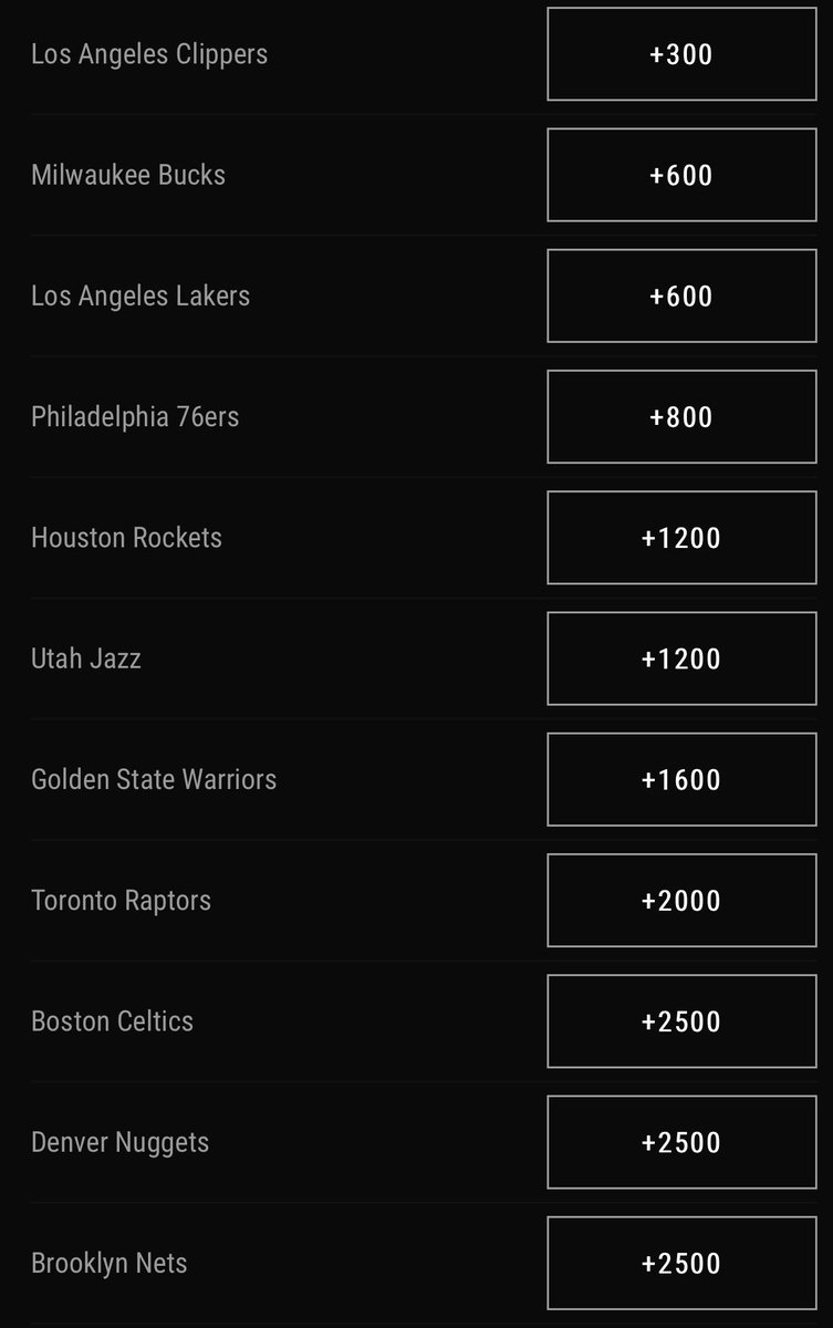 Latest NBA Title Odds Following Kawhi Leonard To The Clippers