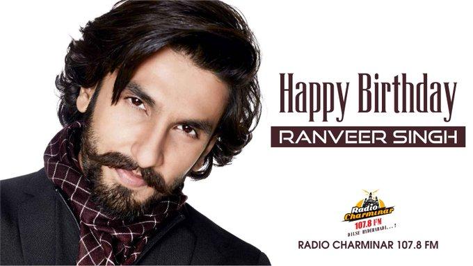 Happy Birthday Ranveer Singh. ,