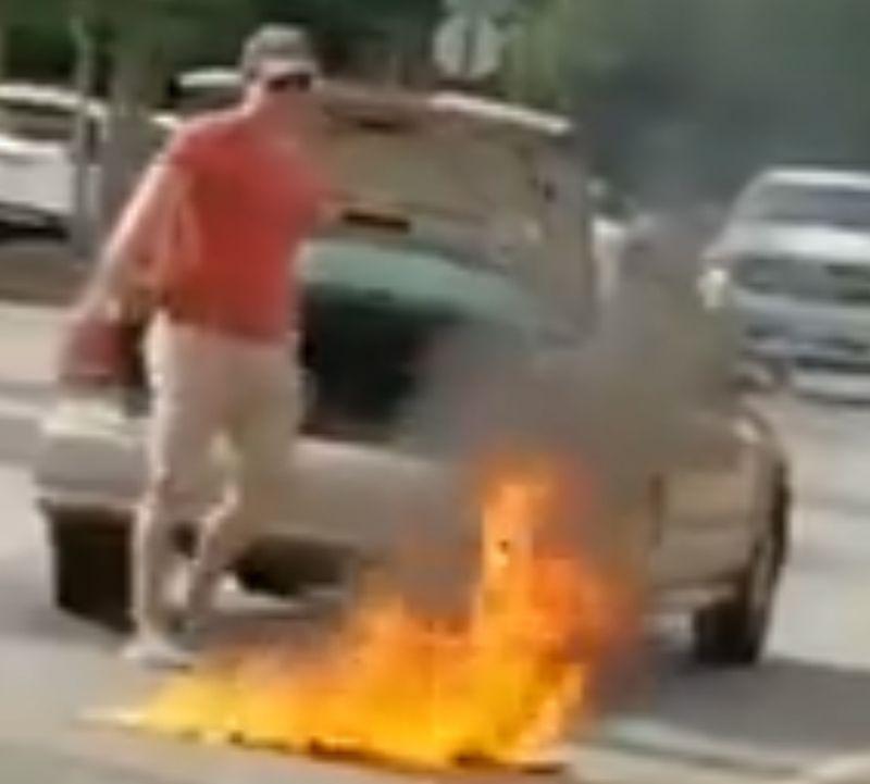 Man arrested after American flag burned in Virginia Walmart parking lot