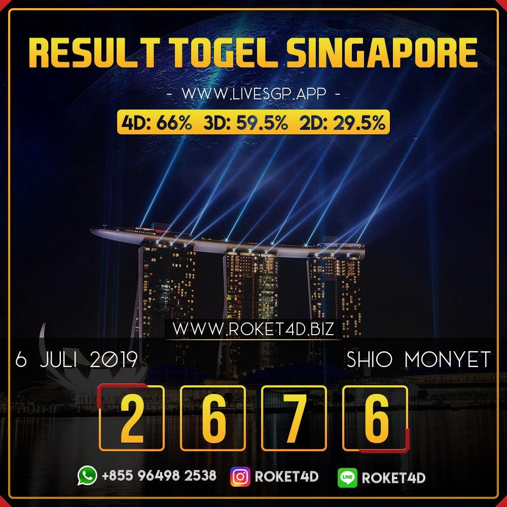 Result Singapore Pools Sabtu 6 Juli 2019 2 6 7 6 Sah Shio