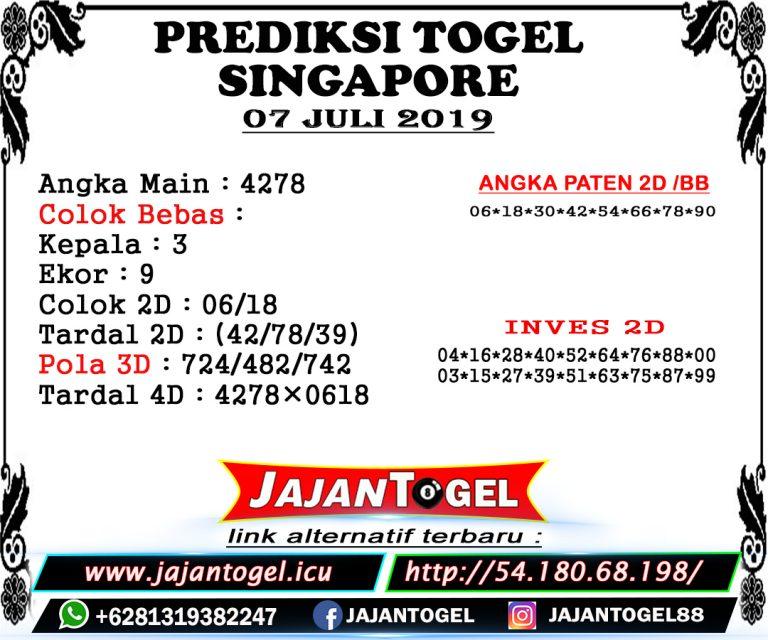 RUMUS TOGEL SGP MINGGU 07 JULI 2019   BOCORANG SGP #bocorantogel
