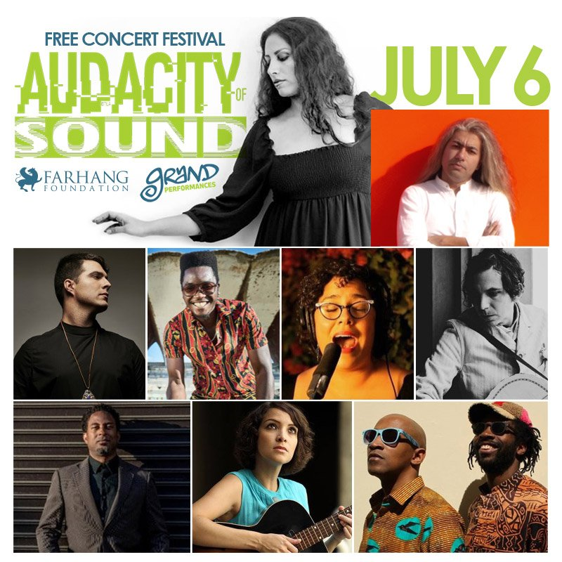 Looking forward to welcoming everyone to today's AUDACITY OF SOUND @GrandPerfs FREE concert event in Downtown Los Angeles from 3-10PM feat. over 12 international musical acts, more info at http://Farhang.org/GP19
