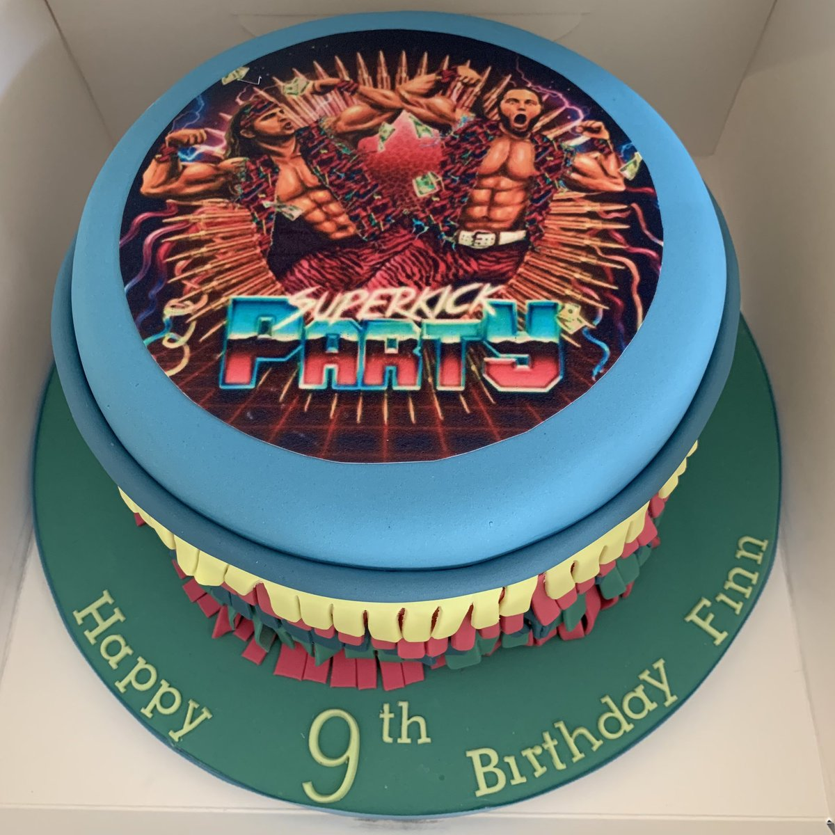 Marvelous Chris Brown On Twitter Little Mans Cake Ready For A Super Kick Personalised Birthday Cards Paralily Jamesorg