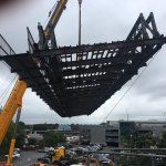 Well done to all involved in the successful lift of Vicars Bridge this morning @EricWrightGroup @LancashireCC