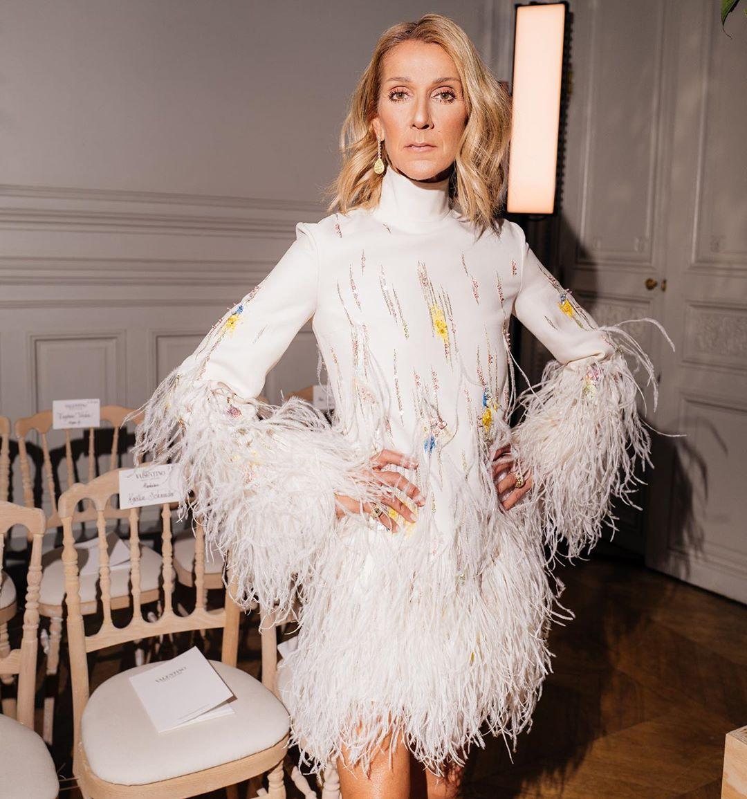 Селин Дион на показе Valentino в Париже