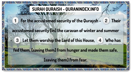 Search, Read, Listen, Download and Share #Surah #Quraish