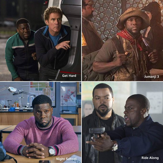 Wishing a happy birthday to Kevin Hart! With so many great movies under his belt, what\s your favourite role of his?