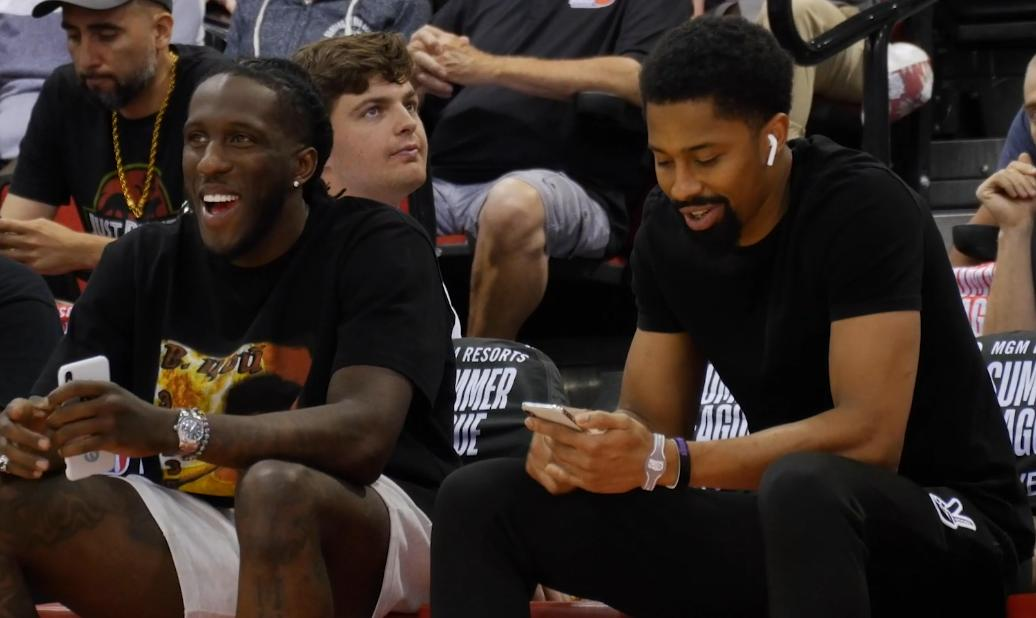 📸 Can also officially say that we spotted some Nets teammates supporting the Summer League squad last night!