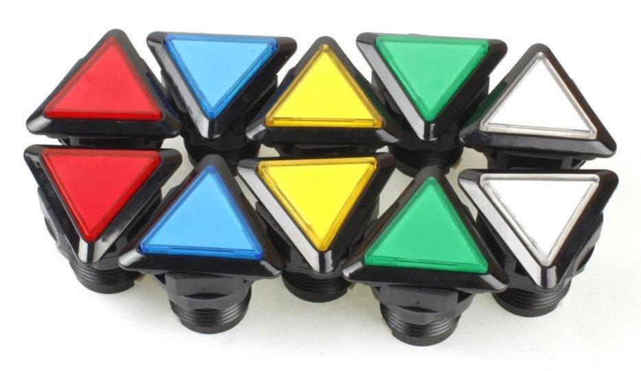 Build fun arcade controls with Triangle LED Illuminated