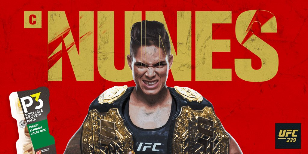 "#ItsBoutTime to see the action in the Octagon. Here are 3 facts about @Amanda_Leoa leading up to #UFC239: ✅ She currently holds the Bantamweight and Featherweight championship belts ✅ She's called ""Lioness"" ✅ Her Octagon debut was UFC 163"