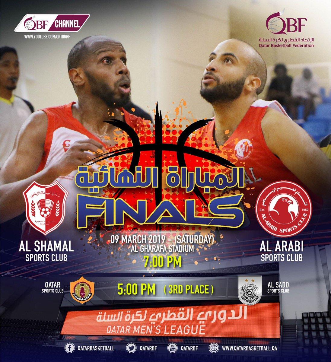 دوري السلة بين العربي والشمال - اليوم في نهائي الدوري القطري لكرة السلة