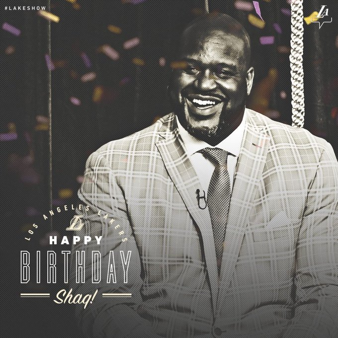 Wishing a happy birthday to the one and only, Shaquille O Neal!