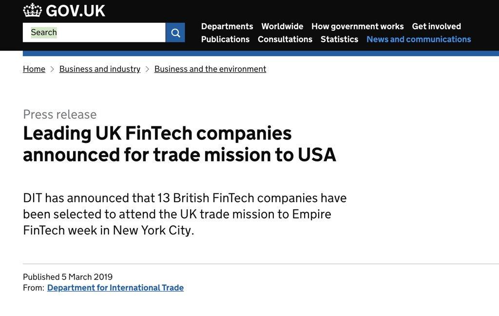 britishfintech hashtag on Twitter