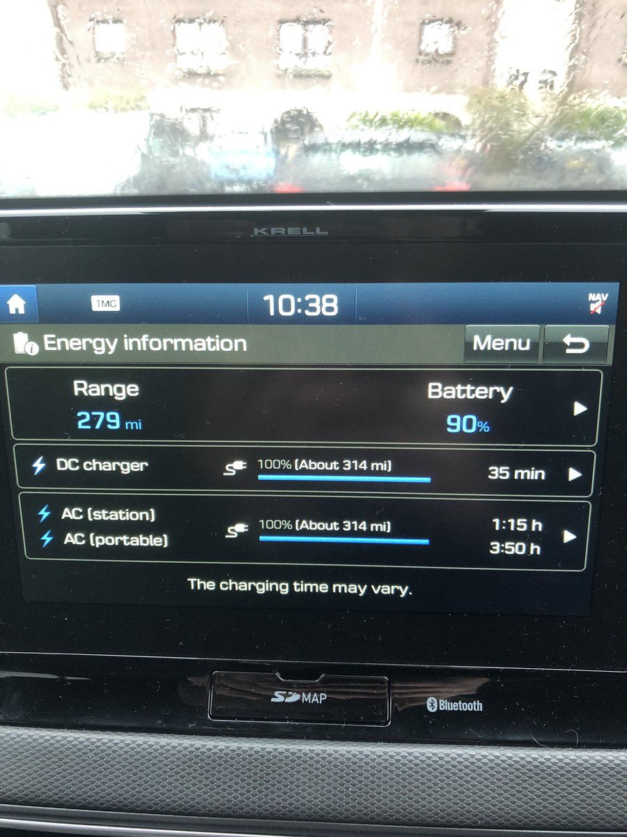 The #electricKona really is amazing range just keeps getting better @Hyundai_UK_PR