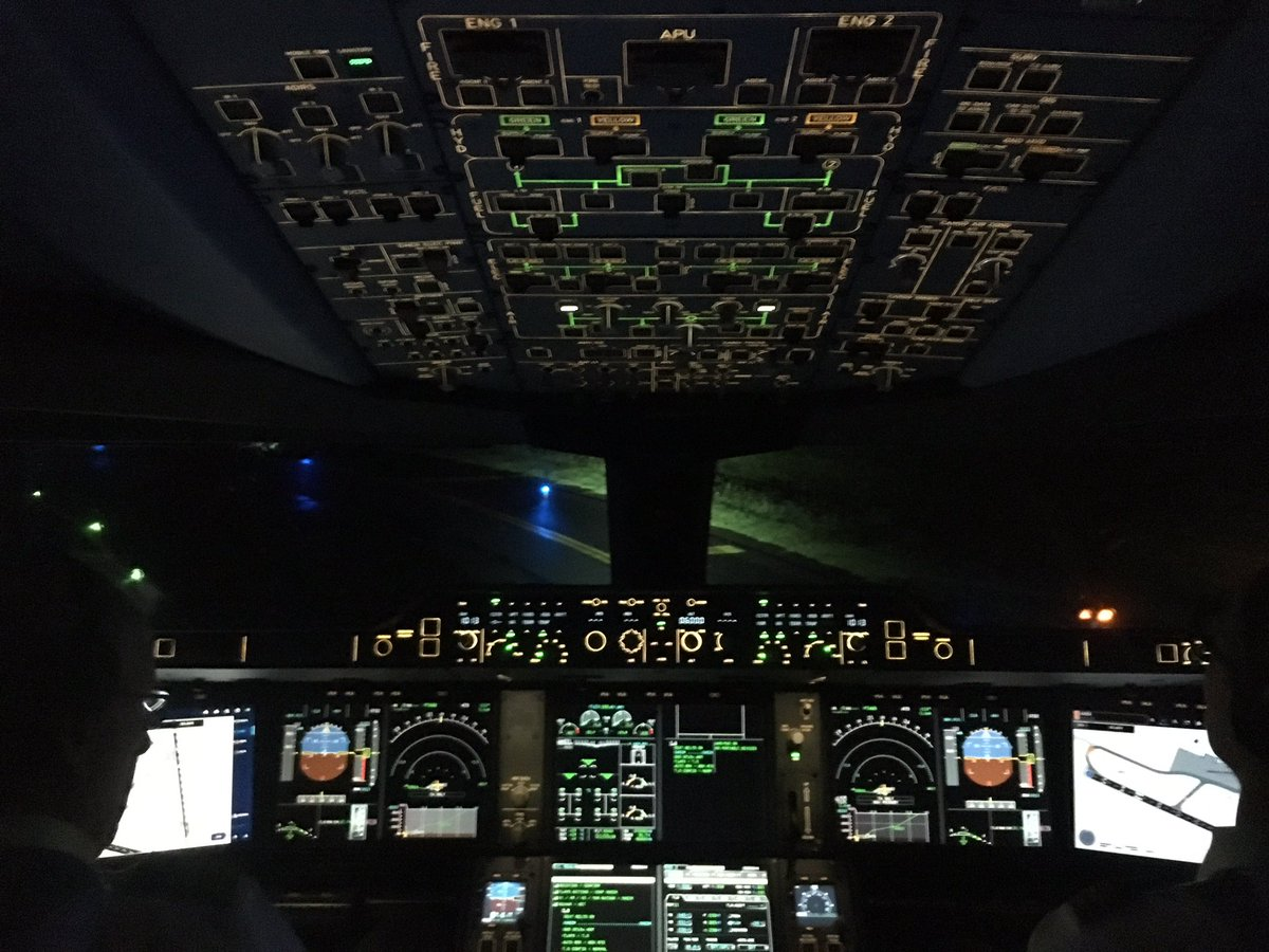 aeroboqueron Green    #A350 #aviation #pilot #cockpit Download Photo
