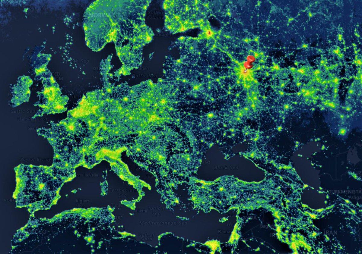 Lichtverschmutzung Karte Europa.Gerit Schulze On Twitter Moskau Ist Der Hellste Stern In Ganz