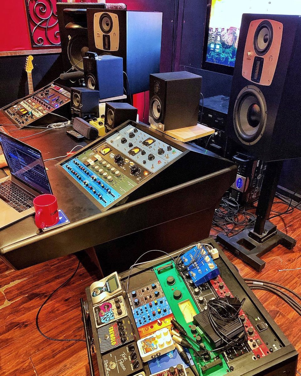 Absolutely insane setup at the Echo Bar Recording Studios in