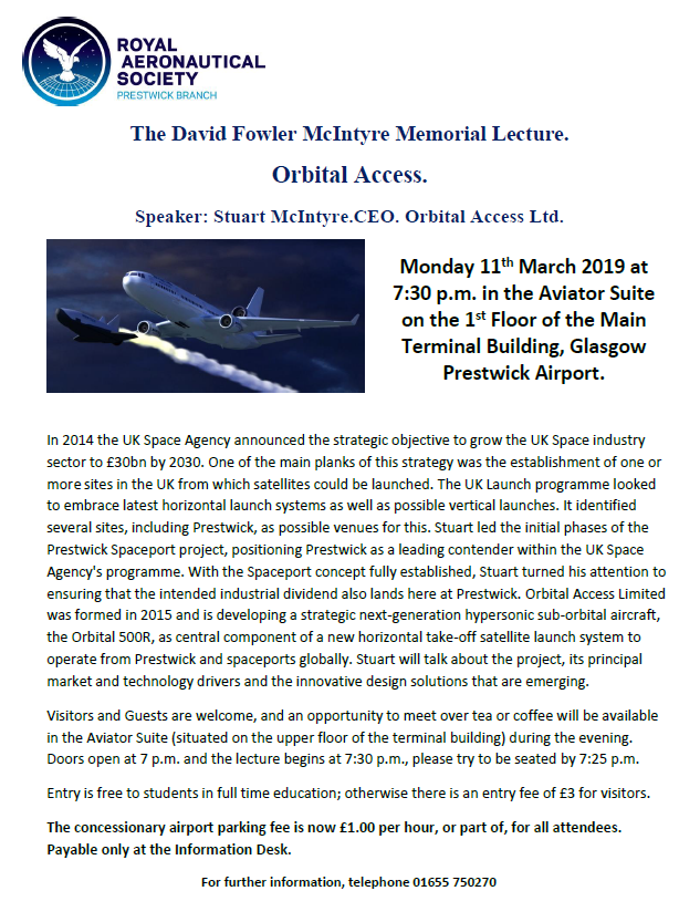This months RAeS meeting is on Monday 11th March at Glasgow Prestwick Airport #WellConnected
