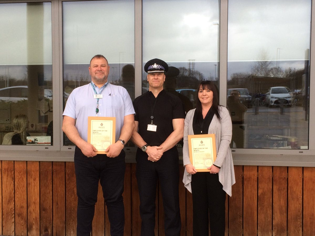 Employee of the Month (Jan) -Two members of our Quality Assurance team who support all training staff, making sure they are delivering the best service we can to the officers & staff. Normally working in the background but today they are front & centre, with Supt Smart. #QATeam <br>http://pic.twitter.com/qOk0wWEAwP