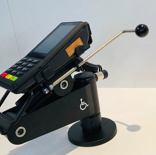 test Twitter Media - Accessibility is a right, not an option! The #SpacePole # Accessibility arm is designed to offer a quick and easy way for operators to adjust the height and tilt of the payment device for ALL customers to use. #ADA #WednesdayWisdom https://t.co/ybOg4en38V