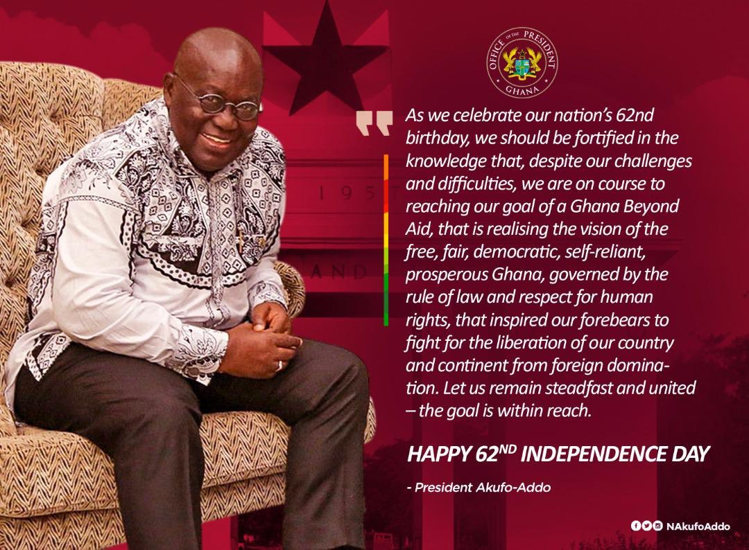 Happy 62nd Independence Day! #GhanaBeyondAid