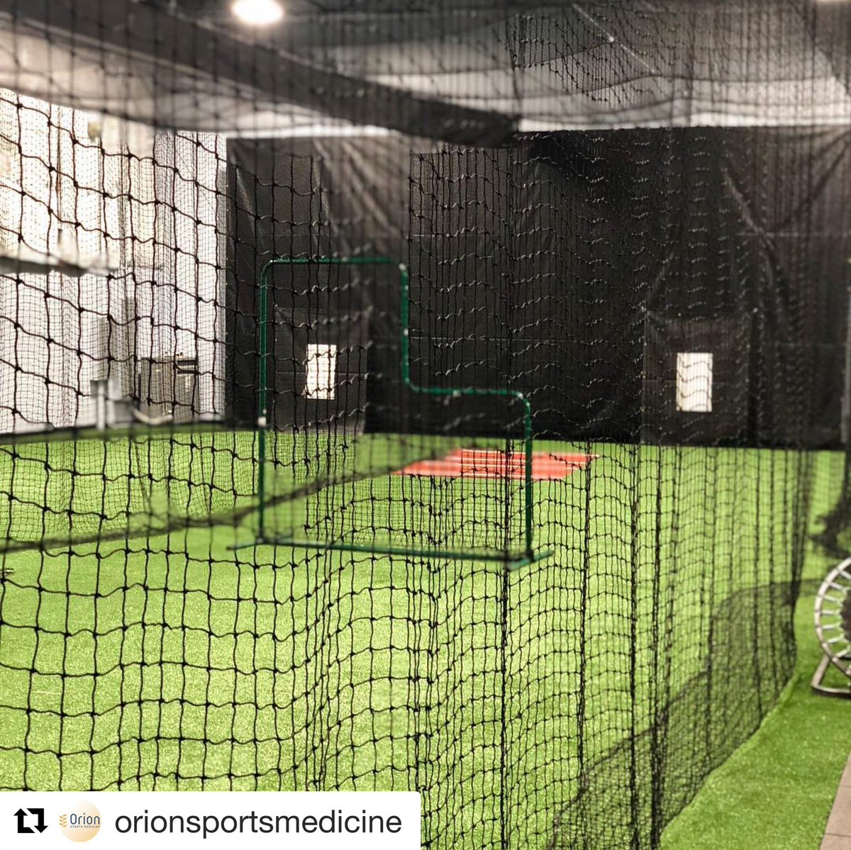 Who's up to #bat? Our netting is up! Schedule your #softball or #baseball team workout now! #hitting #pitching