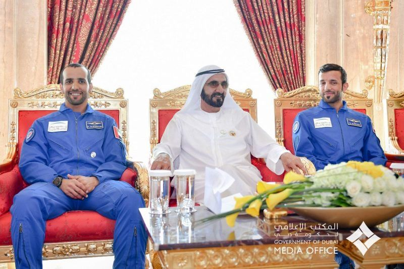 His Highness Sheikh Mohammed meets with the first UAE astronauts https://t.co/GwwN2z1cMq https://t.co/2efCKQMBF2