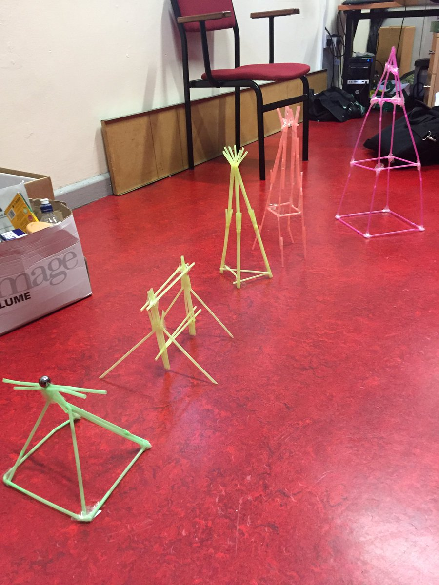 Happy Engineering Week 2019! TYs completed the straw and marble challenge this morning to see who could build the tallest tower which can hold the weight of a marble for 10 seconds #STEM #EngineeringWeek