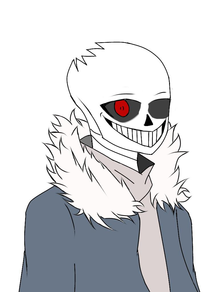 Horrortale sans #undertaleau #horrortale #Undertale Tweet added by