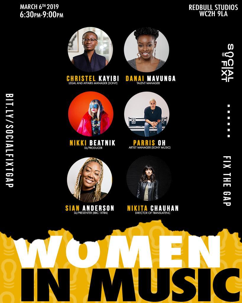 Empowering line up tonight @SocialFixt Women In Music Edition #THEFIXTSERIES #IWD2019