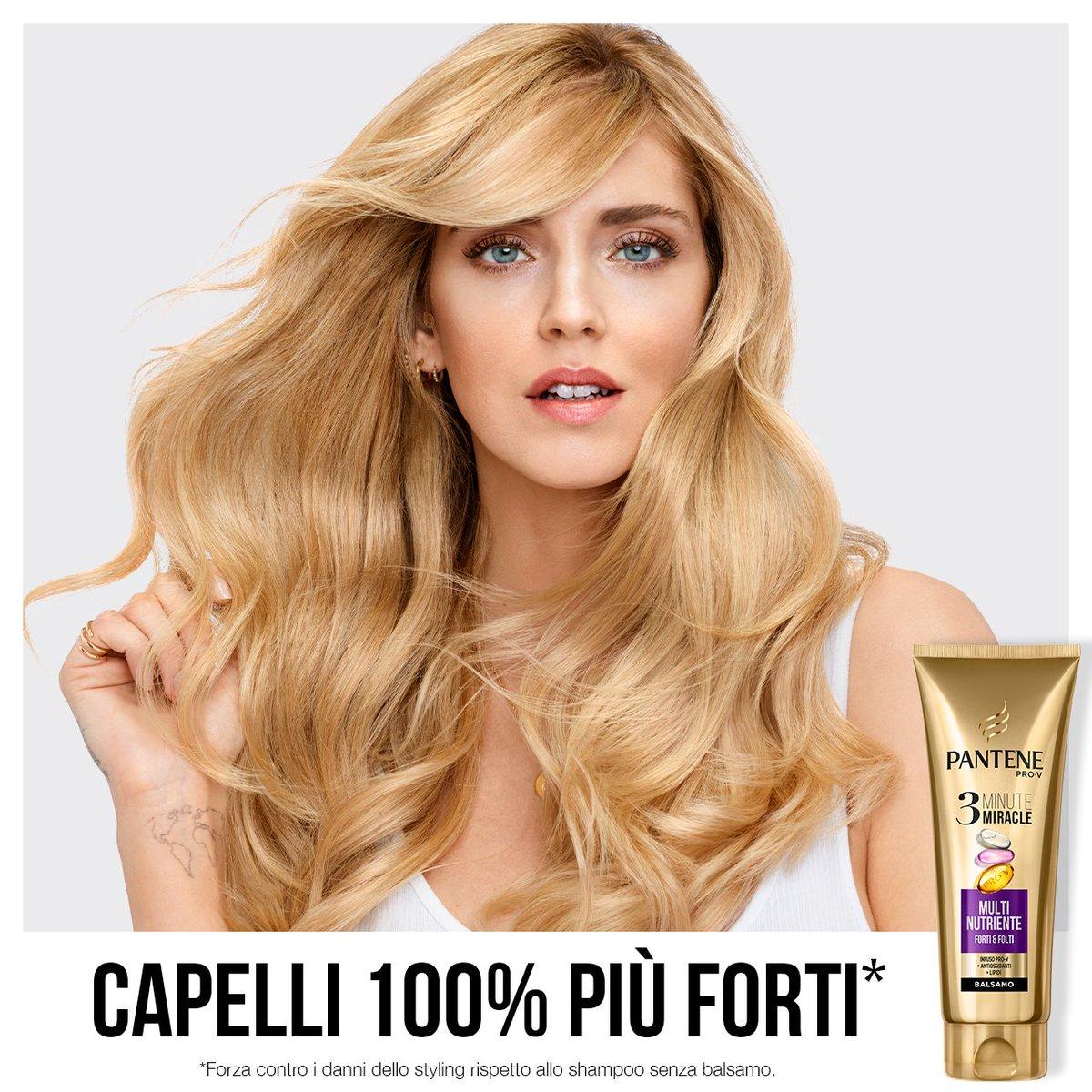 Una volta provato i vostri capelli vorranno solo il nuovo Balsamo 3 Minute Miracle Multi-Nutriente per essere forti e nutriti! <3  #Pantene #CapelliPantene #PowerofHair #MultiNutriente #3MinuteMiracle #ProV #hairstyle #style #ChiaraFerragni #Balsamo #beautifulhair #vitamine https://t.co/wmRg9YhLgd