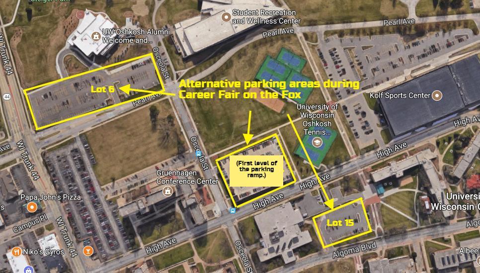 Oshkosh Campus Map.Uw Oshkosh Parking Uwoparking Twitter