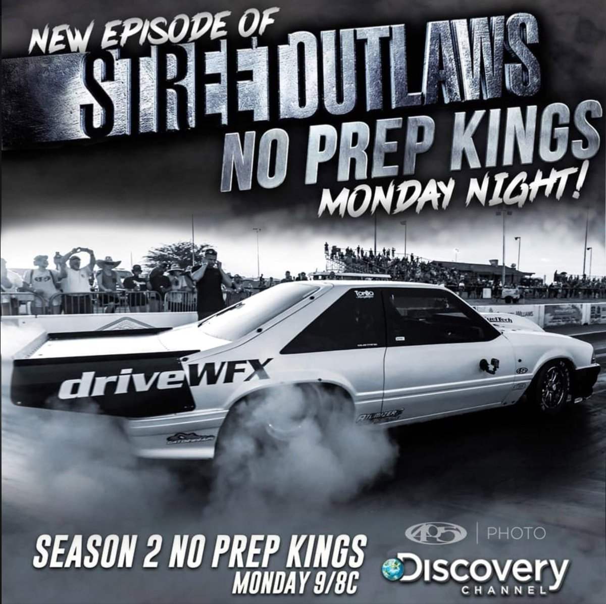 Catch the action tonight as Racers move into the second half of the seventh race in the No Prep Kings series, and with most of the top points leaders still in the race, the pressure is on for them to go all the way.  #noprepkings #streetoutlaws  #Discovery #driveWFX #teamWFX