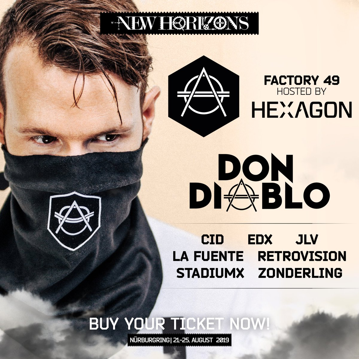 VERY excited to announce the lineup for our @HexagonHQ stage at New Horizons! 🔥🔥 Will YOU be there?! http://tinyurl.com/DDHorizons