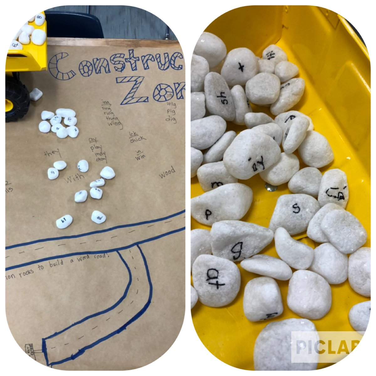 Building roads with words made of blends and word families was hard work! We definitely needed our Tonka dump truck to complete construction! <a target='_blank' href='http://twitter.com/AbingdonGIFT'>@AbingdonGIFT</a> <a target='_blank' href='http://twitter.com/AbingdonPTA'>@AbingdonPTA</a> <a target='_blank' href='https://t.co/uGudmwdSGX'>https://t.co/uGudmwdSGX</a>