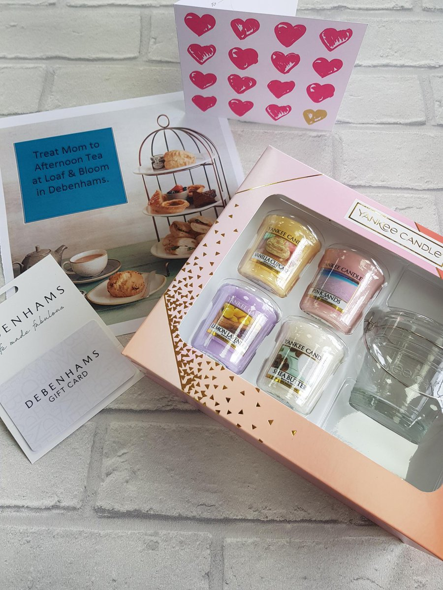 freebiefriday #friyay Treat your Mom with £20 @Debenhams  to use on afternoon tea for 2 at Loaf&amp;Bloom and @TheYankeeCandle from @BootsUK. To enter, just answer this - Jam or cream on first?? like and RT    Ends 22/3 at 10am. Winner must collect.<br>http://pic.twitter.com/khtl2cGCP6